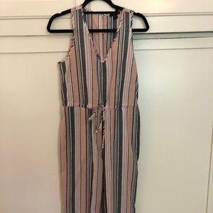 NEW DREW Striped Linen Romper / Jumpsuit